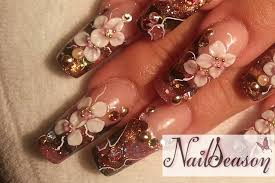 how to make a 3d nail art flower nail art ideas