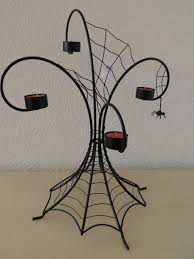 halloween spider webs multi tea light holder yankee candle