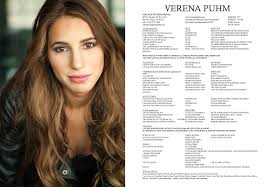 Headshot And Resume Sample by Headshot Resume Verena Puhm