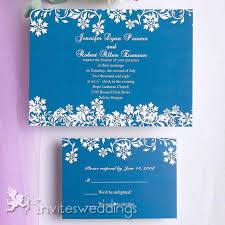 wedding invitations blue blue white floral wedding invitation iwi093 wedding