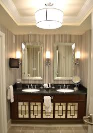 Modern Bathroom Wall Sconces Bathroom Modern Bathroom Design With Brown Vanity Cabinets And