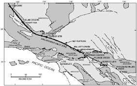 California Fault Map Evidence For Large Earthquakes On The San Andreas Fault At The