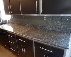 Tin Tiles For Backsplash In Kitchen Small Black Kitchen Decorating Using Dark Grey Granite Sustainable