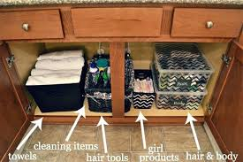 How To Organize Under Your Bathroom Sink - organize bathroom sink cabinetunder bathroom sink organization