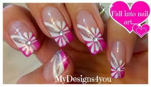 floral pink nail art spring summer nails цветочный дизайн