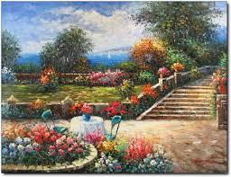 Beautiful Patio Gardens Flowers Gardens Patio Beautiful Landscaped Flowers Stairs