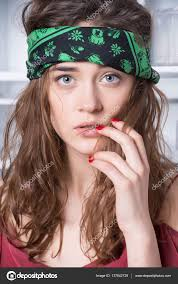 bandana hippie pretty hippie girl in bandana stock photo stetsik 137842728