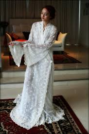 embroidered lace bridal robe french lace wedding robe bridal