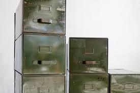 Vintage Metal File Cabinet Sold 20th Century Fox 1940s Vintage Steel Filing Cabinet Boxes
