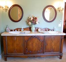 Furniture Vanity For Bathroom Antique Sideboard Buffet Turned Into Sink Vanity