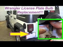 jeep wrangler license plate light tag light replacement how to