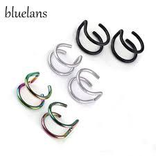 s clip on earrings bluelans men s women s clip on earrings non piercing ear cartilage