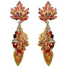 earrings new york autumn in new york leaf acorn earrings fall jewelry ritzy