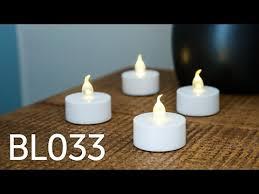 Tea Light Candles Led Flickering Tea Light Candles Bl033 Youtube