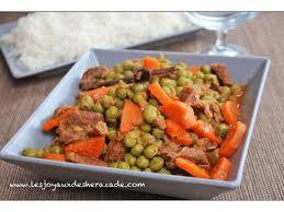 plat facile a cuisiner et rapide petits pois carottes يخنة البازلاء les joyaux de sherazade