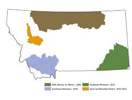 Montana On The Map by Montana Natural Heritage Program Wetlands Information