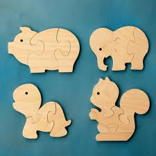 wooden party favors wood puzzle party favors animals package of 12 wooden