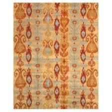 Ikat Kitchen Rug Linon Trio Beige Blue Ikat Rug 8 U0027 X 10 U0027 By Linon Rug Features