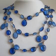 blue glass necklace vintage images 115 best blue lapis vintage jewelry images jpg