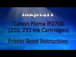 resetter printer canon ip2770 per ip2700 canon pixma ip2700 printer reset procedure 210 211 ink cartridges