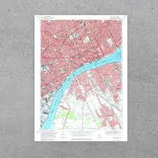 Mi Map Detroit Mi 1968 Usgs Map