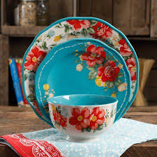 kitchen collection free shipping the pioneer woman vintage floral 12 piece dinnerware set pioneer