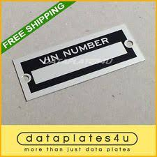 willys jeep overland body vin model trim number plate serial tag