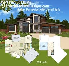 modern house plans plan 85130ms modern masterpiece with up to 5 beds modern house