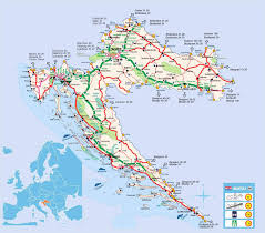 Map Of Budapest Detailed Road Map Of Croatia Croatia Europe Mapsland Maps