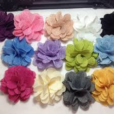 flowers for headbands burlap flowers 3 inch rustic fabric from diysuppliesandkits on