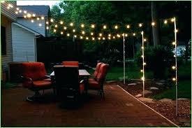 deck string lighting ideas outdoor deck string lighting backyard pole lights pole for outdoor