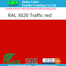 ral 3020 powder coating high gloss china manufacturer