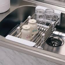 Kitchen Sink Dish Racks Victoriaentrelassombrascom - Kitchen sink plate drainer