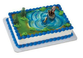 boat cake topper fishing fisherman fish boat cake decoration decoset cake topper ebay