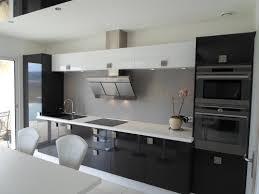 cuisine blanche brillante cuisine et blanche brillante avec ilôt les cuisines d