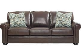 Rooms To Go Sofa Beds Valdosta Walnut Leather Sleeper Sleeper Sofas Brown