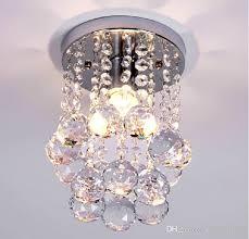 round 40w led ceiling light fixture l bedroom kitchen ceiling lights modern crystal flush porch light mini crystal