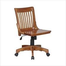 wood desk chair with wheels wood office chair ebay