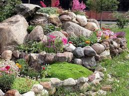 Rock Garden Cground Small Rock Garden Designs With Large Stones