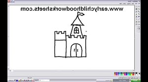 simple castle drawing how to draw a castle easy step step for kids