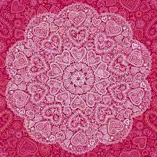 Indian Style - ornamental hearts pattern in indian style by of sun