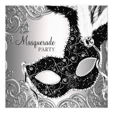 masks for masquerade party silver black mask masquerade party card zazzle
