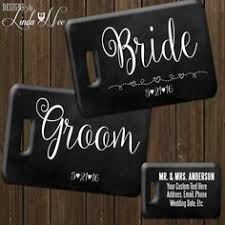 and groom luggage tags personalized mr and mrs luggage tag set by designsbylindaneetoo