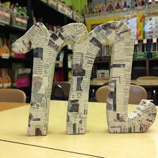 Paper Mache Ideas For Home Decor 24 Diy Paper Mache Letters Guide Patterns