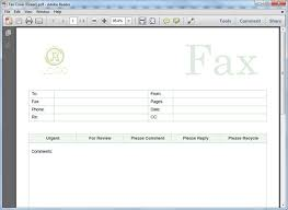 fax cover sheet templates for pdf