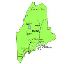 map of maine cities maine us state powerpoint map highways waterways capital and