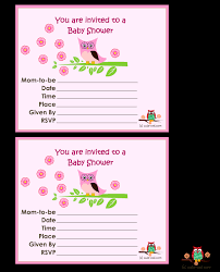 11 free printable owl baby shower invitations