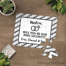 ring security wedding will you be our ring security wedding puzzle