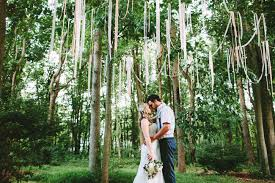 Backyard Rustic Wedding by Rustic Chic Backyard Wedding Michelle Jimmy Streamers