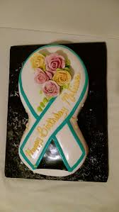 cake ribbon ovarian cancer ribbon cake cakes and more cakes